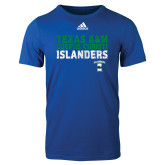Adidas Royal Logo T Shirt-Adidas Corpus Christi Islanders Logo