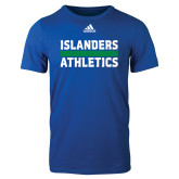 Adidas Royal Logo T Shirt-Adidas Islanders Athletics Logo
