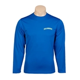 Syntrel Performance Royal Longsleeve Shirt-Arched Islanders