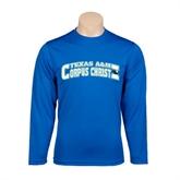 Performance Royal Longsleeve Shirt-Arched Texas A&M Corpus Christi Design