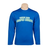 Syntrel Performance Royal Longsleeve Shirt-Arched Texas A&M Corpus Christi
