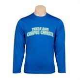 Performance Royal Longsleeve Shirt-Arched Texas A&M Corpus Christi