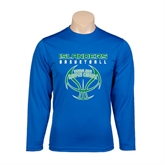 Performance Royal Longsleeve Shirt-Islanders Basketball Stacked