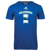 Adidas Climalite Royal Ultimate Performance Tee-Islanders w/I