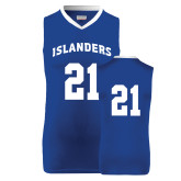 Replica Royal Adult Basketball Jersey-#21