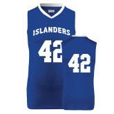 Replica Royal Adult Basketball Jersey-#42