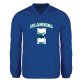 V Neck Royal Raglan Windshirt-Islanders w/I