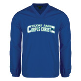 V Neck Royal Raglan Windshirt-Arched Texas A&M Corpus Christi Design