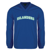 V Neck Royal Raglan Windshirt-Arched Islanders
