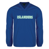V Neck Royal Raglan Windshirt-Islanders