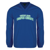 V Neck Royal Raglan Windshirt-Arched Texas A&M Corpus Christi