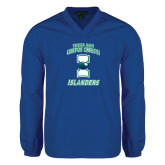 V Neck Royal Raglan Windshirt-Texas A&M Corpus Christi Islanders