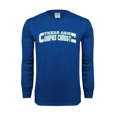 Royal Long Sleeve T Shirt-Arched Texas A&M Corpus Christi Design
