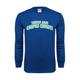 Royal Long Sleeve T Shirt-Arched Texas A&M Corpus Christi
