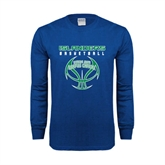 Royal Long Sleeve T Shirt-Islanders Basketball Stacked