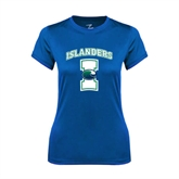 Ladies Syntrel Performance Royal Tee-Islanders w/I