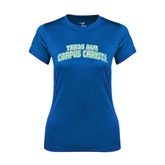 Ladies Syntrel Performance Royal Tee-Arched Texas A&M Corpus Christi