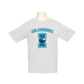 Youth White T Shirt-Islanders w/I