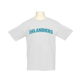 Youth White T Shirt-Arched Islanders