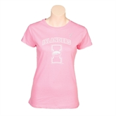 Next Level Ladies SoftStyle Junior Fitted Pink Tee-Kay Yow Breast Cancer Fund Ribbon