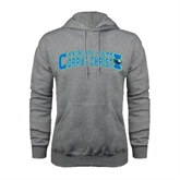 Grey Fleece Hoodie-Arched Texas A&M Corpus Christi Design