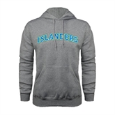 Grey Fleece Hoodie-Arched Islanders