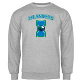 Grey Fleece Crew-Islanders w/I