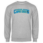 Grey Fleece Crew-Arched Texas A&M Corpus Christi Design