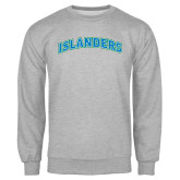 Grey Fleece Crew-Arched Islanders