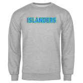 Grey Fleece Crew-Islanders