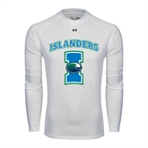 Under Armour White Long Sleeve Tech Tee-Islanders w/I