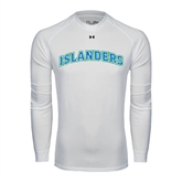 Under Armour White Long Sleeve Tech Tee-Arched Islanders