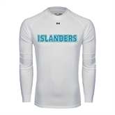 Under Armour White Long Sleeve Tech Tee-Islanders