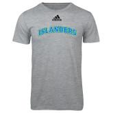 Adidas Sport Grey Logo T Shirt-Arched Islanders