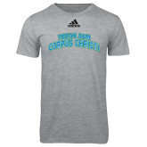 Adidas Sport Grey Logo T Shirt-Arched Texas A&M Corpus Christi