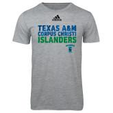 Adidas Sport Grey Logo T Shirt-Adidas Corpus Christi Islanders Logo