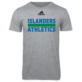 Adidas Sport Grey Logo T Shirt-Adidas Islanders Athletics Logo