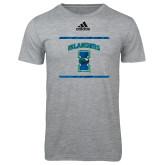 Adidas Sport Grey Logo T Shirt-Adidas Islanders Logo