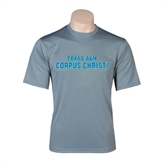 Performance Grey Concrete Tee-Texas A&M Corpus Christi