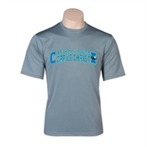 Performance Grey Concrete Tee-Arched Texas A&M Corpus Christi Design