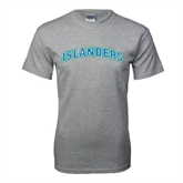 Grey T Shirt-Arched Islanders