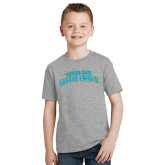 Youth Grey T-Shirt-Arched Texas A&M Corpus Christi