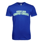 Next Level SoftStyle Royal T Shirt-Arched Texas A&M Corpus Christi