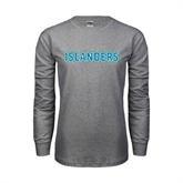 Grey Long Sleeve TShirt-Islanders