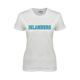 Ladies White T Shirt-Islanders