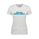 Ladies White T Shirt-Texas A&M Corpus Christi
