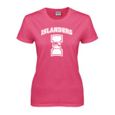 Ladies Fuchsia T Shirt-Kay Yow Breast Cancer Fund Ribbon