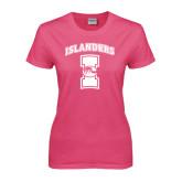 Ladies Fuchsia T Shirt-Kay Yow Breast Cancer Fund Ribbon
