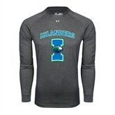 Under Armour Carbon Heather Long Sleeve Tech Tee-Islanders w/I