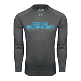 Under Armour Carbon Heather Long Sleeve Tech Tee-Texas A&M Corpus Christi